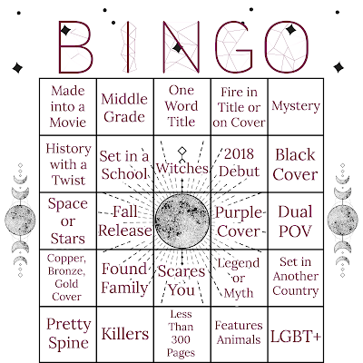 fall bookish bingo